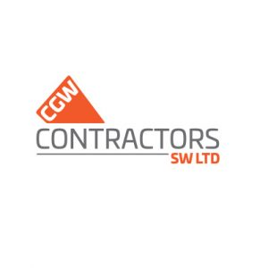 Image of the CGW Contractors SW Ltd logo designed by Squiggles Graphics, a Website Design and Graphic Design agency, based in Langport in Somerset.