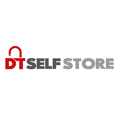 Image of the DT Self Store logo, which was proudly designed by Squiggle Graphics, a Design Agency based in Langport, Somerset specialising in Websites & Logo design for small businesses.