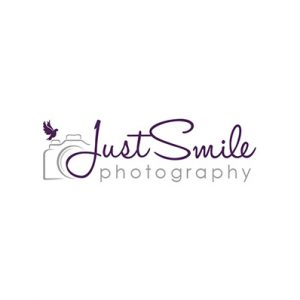 Image of the Just Smile Photography logo, which was proudly designed by Squiggles Graphics, a Design Agency based in Langport, Somerset specialising in Websites & Logo design for small businesses.