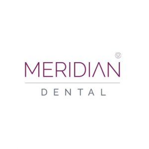 Image of the Meridian Dental Logo which was proudly designed by Squiggles Graphics, a Design Agency based in Langport, Somerset specialising in Websites & Logo design for small businesses.