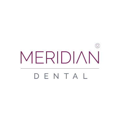 Image of the Meridian Dental Logo which was proudly designed by Squiggle Graphics, a Design Agency based in Langport, Somerset specialising in Websites & Logo design for small businesses.