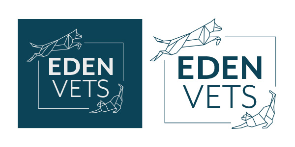 Image of the Eden Vets logo, who Squiggle Graphics - a design agency in Langport, Somerset proudly designed the Website and Logo for.