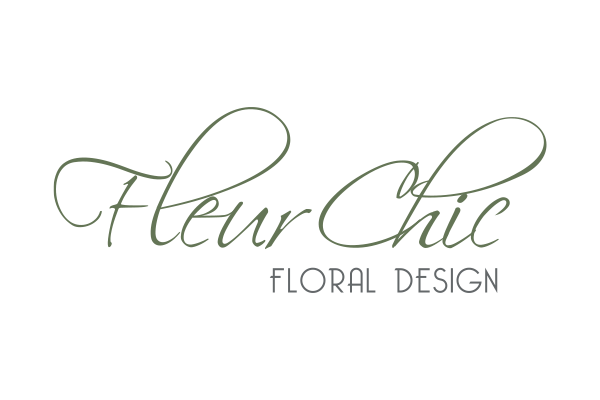 Fleur Chic Floral Design Logo created by Squiggle Graphics