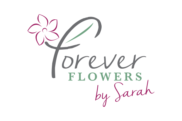 Forever Flowers by Sarah logo design created by Squiggle Graphics