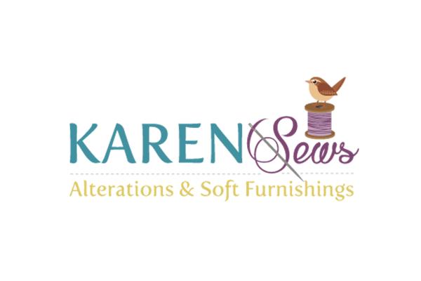 Karen Sews Logo Design by Squiggle Graphics