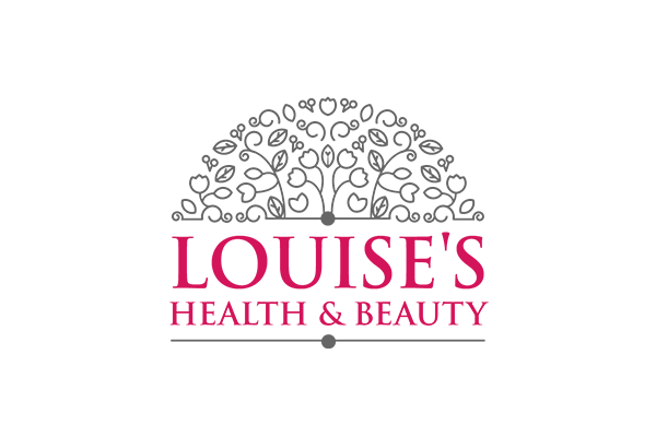 Louise's Health & Beauty Logo design created by Squiggle Graphics