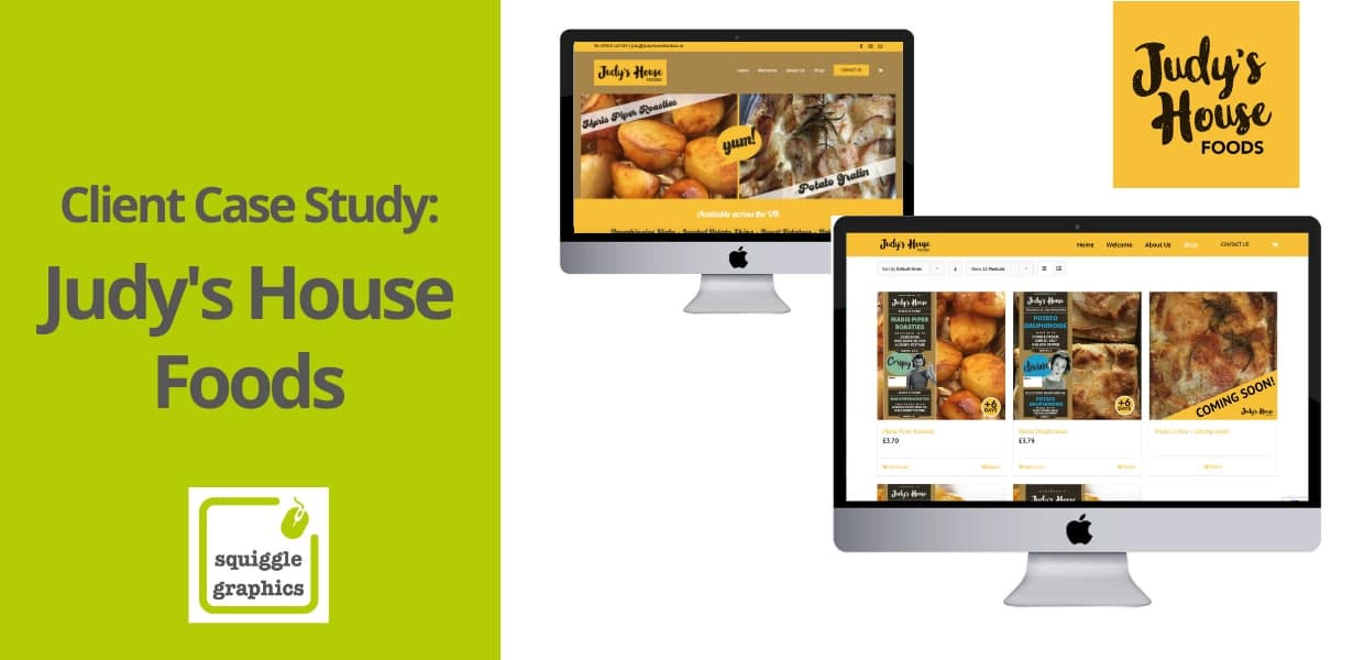 Squiggle Graphics Case Study - Judy's House Foods